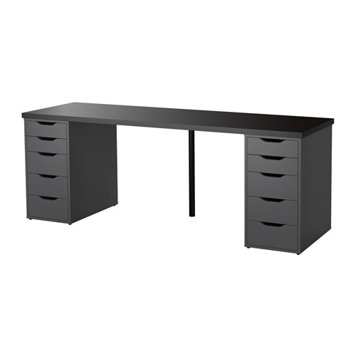 linnmon alex table black brown gray ikea. Black Bedroom Furniture Sets. Home Design Ideas