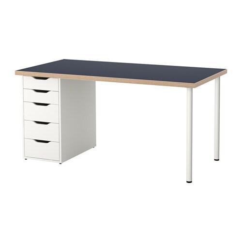linnmon alex table blue white ikea. Black Bedroom Furniture Sets. Home Design Ideas