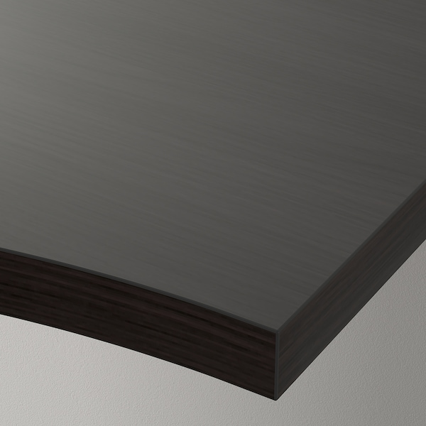 "LINNMON Corner table top, black-brown, 47 1/4x47 1/4 """