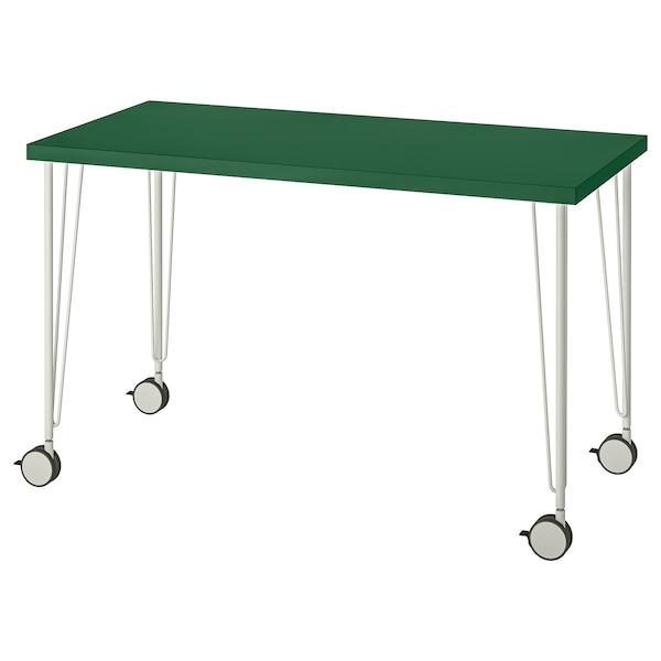 "LINNMON / KRILLE Table, green/white, 47 1/4x23 5/8 """