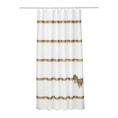 new designer shower curtain ikea lisel nautical white. Black Bedroom Furniture Sets. Home Design Ideas
