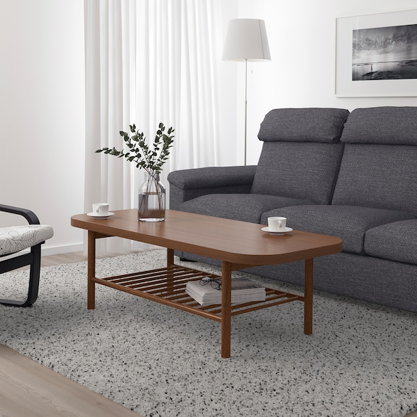 "LISTERBY coffee table brown 55 1/8 "" 23 5/8 "" 17 3/4 """