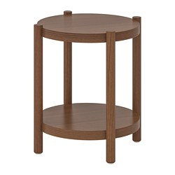LISTERBY - Side table, white stained oak