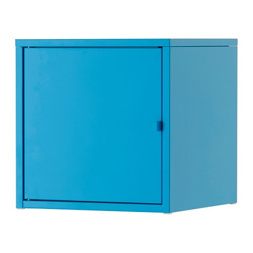 LIXHULT Cabinet, metal, blue metal/blue 13 3/4x13 3/4