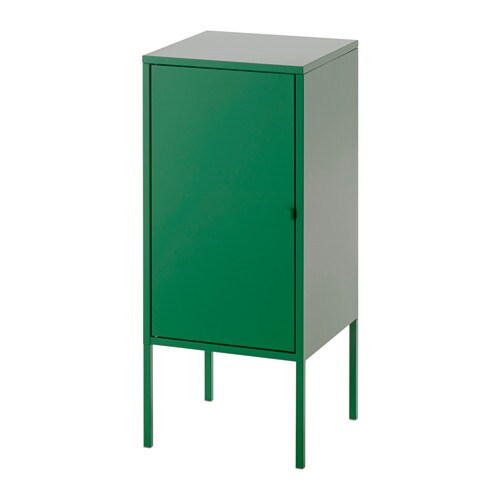 Lixhult cabinet metal green ikea for Metal lockers ikea