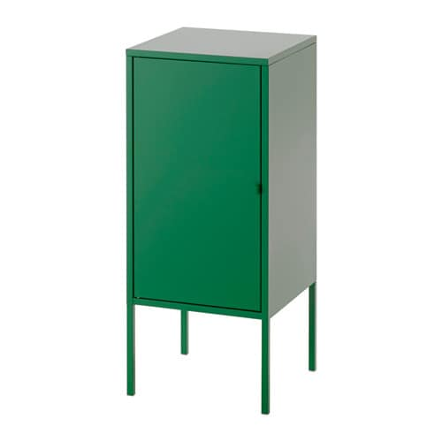 LIXHULT Cabinet, metal, green metal/green 13 3/4x23 5/8