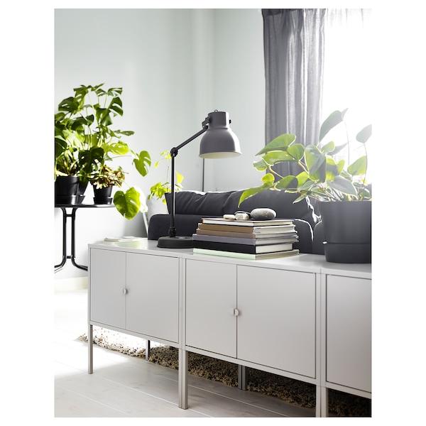 "LIXHULT Cabinet, metal/gray, 23 5/8x13 3/4 """