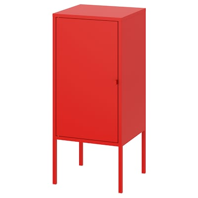 """LIXHULT Cabinet, metal/red, 13 3/4x23 5/8 """""""