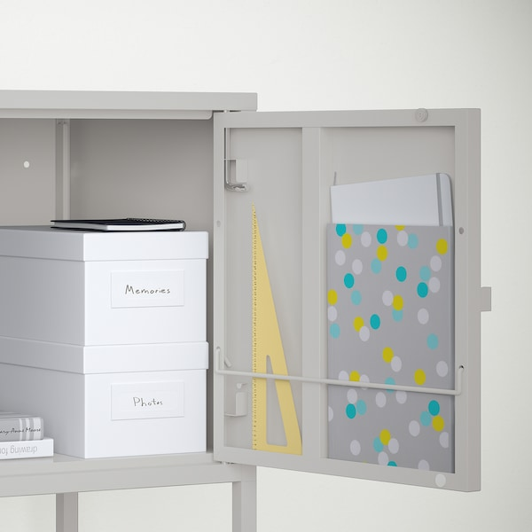 LIXHULT Storage combination, gray, 47 1/4x13 3/4x22 1/2 ""