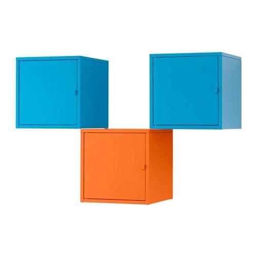 LIXHULT Storage combination, orange, blue orange/blue 41 3/8x27 1/2