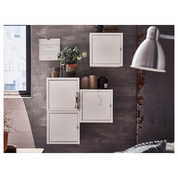"""LIXHULT Wall-mounted cabinet combination, white, 19 5/8x9 7/8x19 5/8 """""""