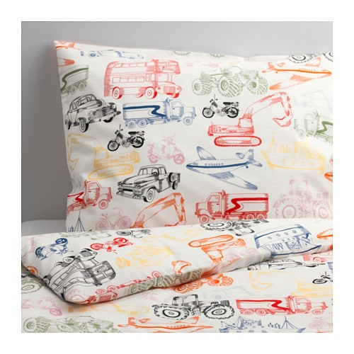 Ljudlig duvet cover and pillowcase s ikea for Housse de couette linen chest