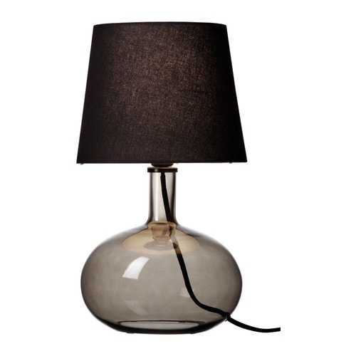 LJUSÅS UVÅS Table lamp IKEA Fabric shade gives a diffused and decorative light.