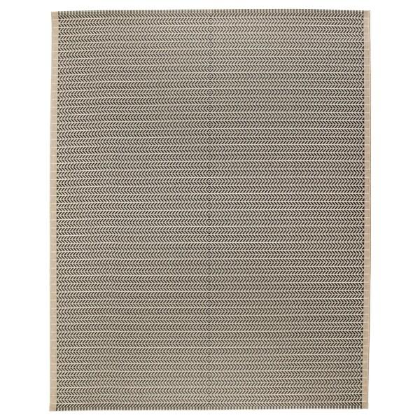 """LOBBÄK rug flatwoven, in/outdoor beige 8 ' 2 """" 6 ' 7 """" ¼ """" 53.82 sq feet 5.24 oz/sq ft"""