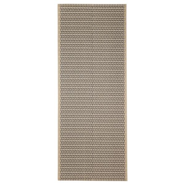 """LOBBÄK Rug flatwoven, in/outdoor, beige, 2 ' 7 """"x6 ' 7 """""""
