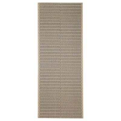 """LOBBÄK rug flatwoven, in/outdoor beige 6 ' 7 """" 2 ' 7 """" 17.22 sq feet"""