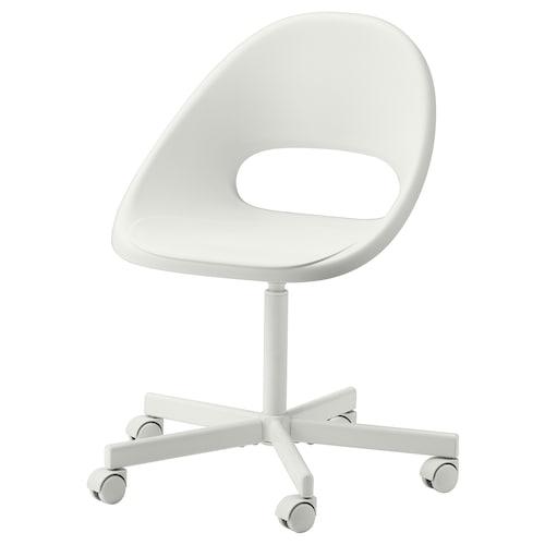 "LOBERGET / BLYSKÄR swivel chair white 243 lb 26 3/8 "" 26 3/8 "" 35 3/8 "" 17 3/8 "" 16 7/8 "" 16 7/8 "" 21 1/4 """