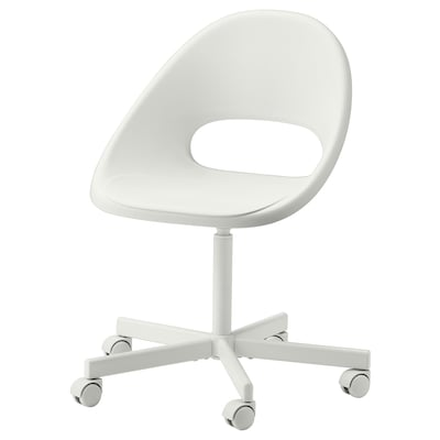 LOBERGET / BLYSKÄR Swivel chair, white