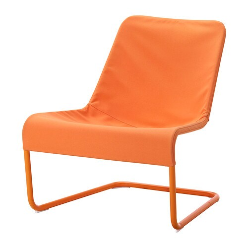 locksta easy chair orange ikea