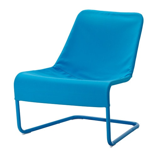 LOCKSTA Easy chair blue IKEA