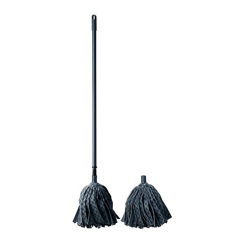 LÖDDER Wet mop IKEA Lockable telescopic handle.   Easy to adjust for a comfortable working height.