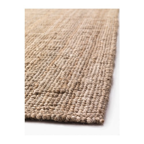 LOHALS Rug, flatwoven IKEA Jute is a durable and recyclable material with natural color variations.