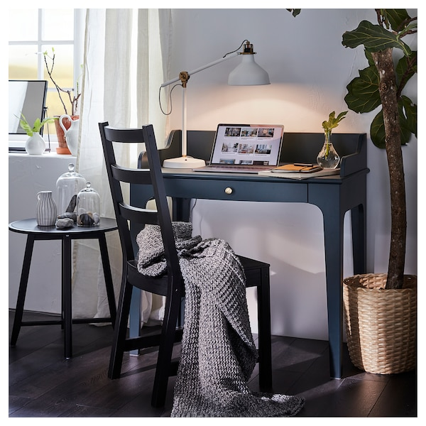 "LOMMARP Desk, dark blue-green, 35 3/8x21 1/4 """