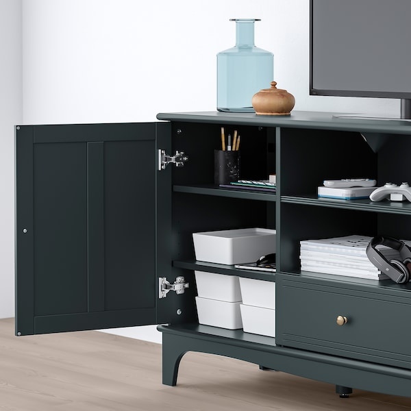 Lommarp Tv Unit Dark Blue Green 62 5 8x17 3 4x31 7 8 Quot Ikea
