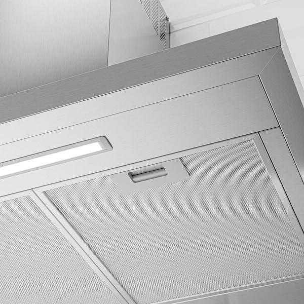 LUFTBUREN Wall mounted range hood, Stainless steel