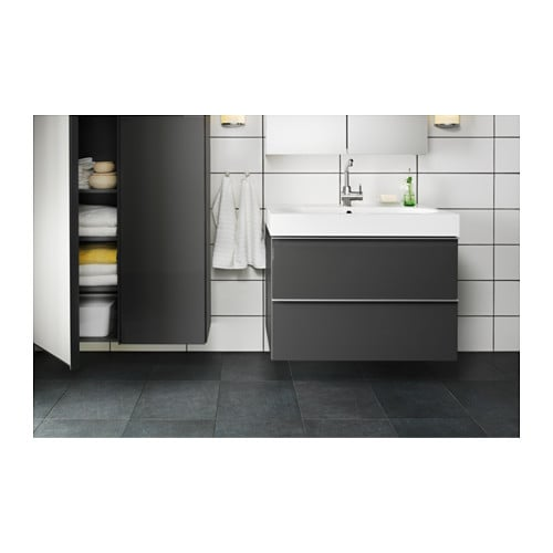 Water conscious commitment in bathrooms. LUNDSK R Bath faucet with strainer   IKEA