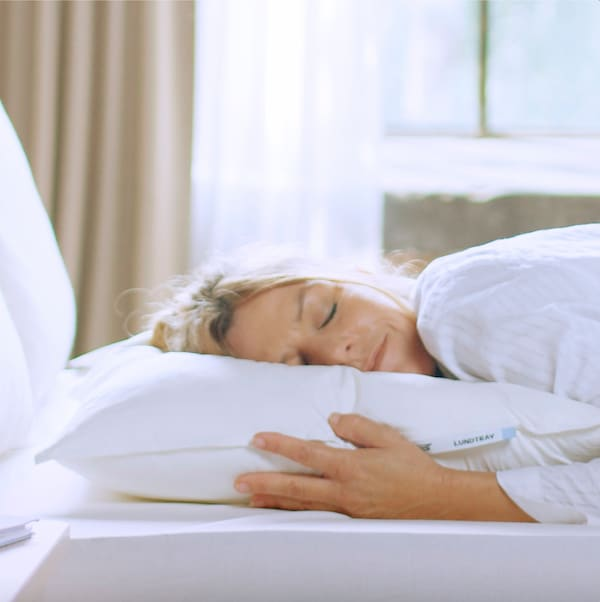 LUNDTRAV Pillow, low, Queen