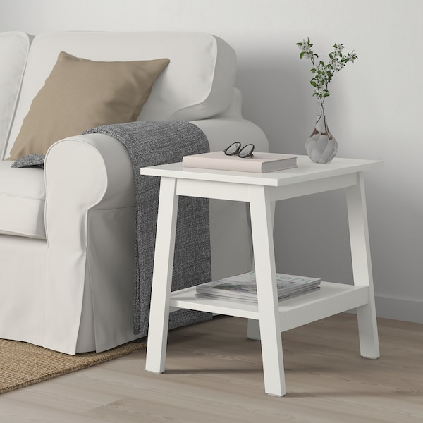 Lunnarp Side Table White 21 5 8x17 3