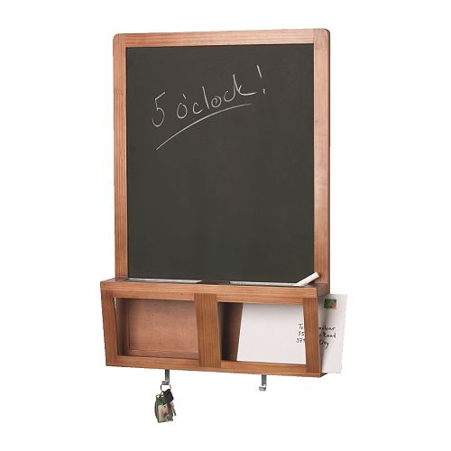 LUNS Writing/magnetic board IKEA For storage of keys, mobile phone, mail. You can write messages with the chalk and stick magnets on the board.