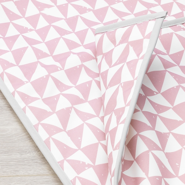 LURVIG Blanket, pink/triangle, 39 ¼x59 ""