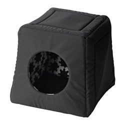 LURVIG cat bed/house, black