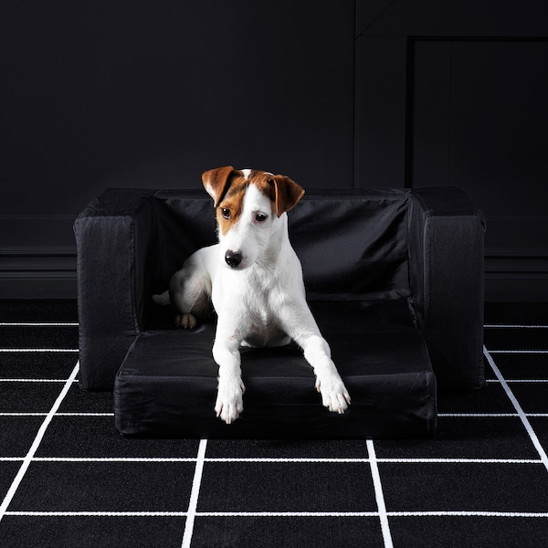"LURVIG Cat/dog bed, black, 26 ¾x27 ½ """