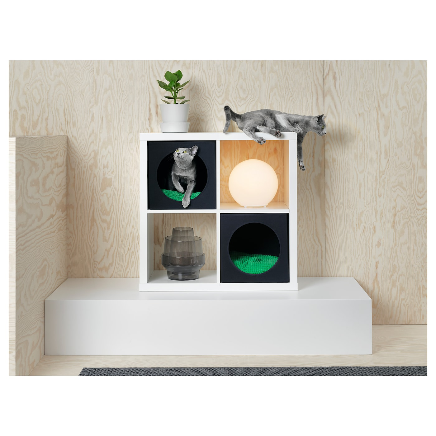 Lurvig Cat House Black Ikea