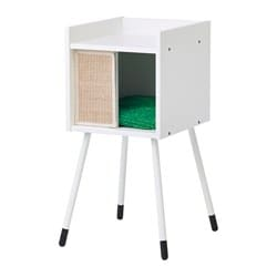 LURVIG cat house on legs with pad, white, green