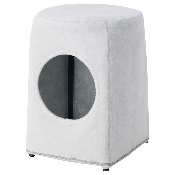 Excellent Cat House With Stool Lurvig Light Gray Black Machost Co Dining Chair Design Ideas Machostcouk