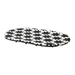 LURVIG cover for pet bed, black, white
