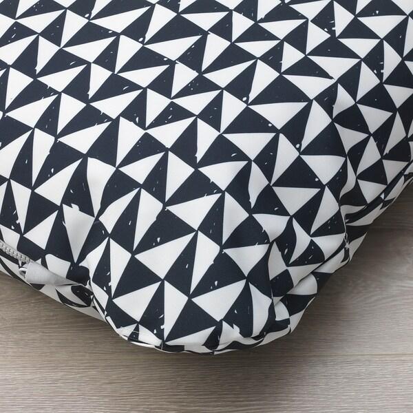 "LURVIG Cushion, black/triangle, 24 ½x39 ¼ """