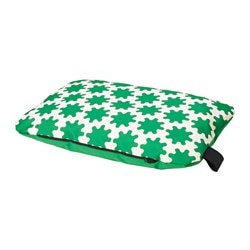 LURVIG cushion, green, white