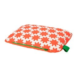 LURVIG cushion, orange, white