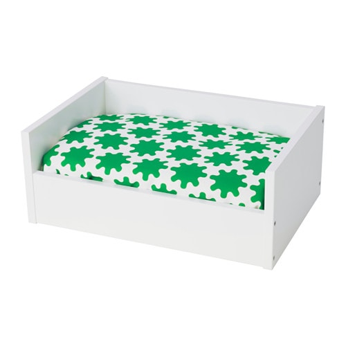 Lurvig pet bed with pad white green white ikea for Lurvig ikea
