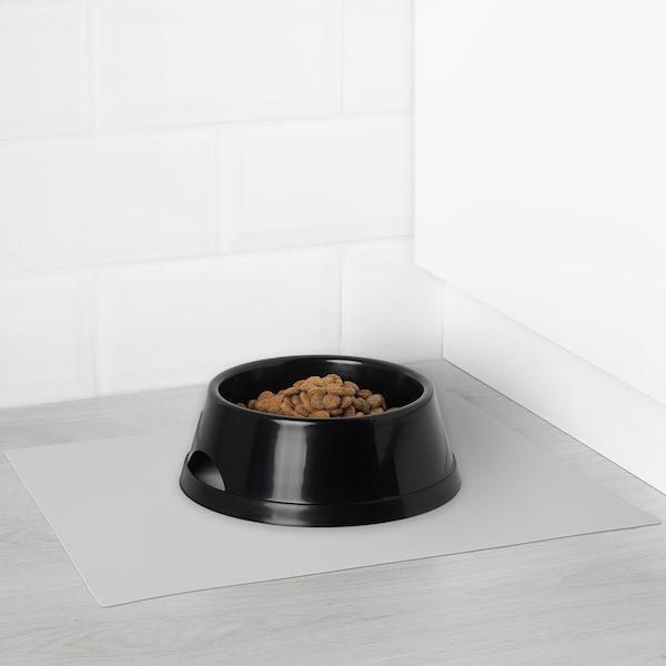 "LURVIG Place mat for food bowl, light gray, 10 ¾x14 ¼ """