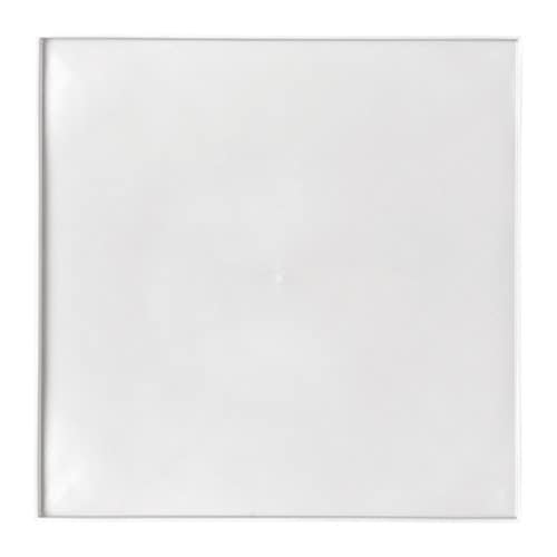 LURVIG Place mat for food bowl, with rim, white white 13x13