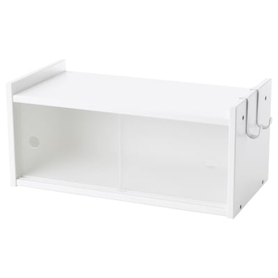 LURVIG Wall cabinet with sliding doors, white, 15 3/4x7 1/8 ""