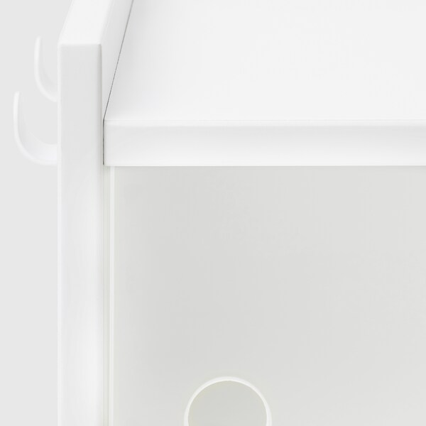 """LURVIG Wall cabinet with sliding doors, white, 15 3/4x7 1/8 """""""