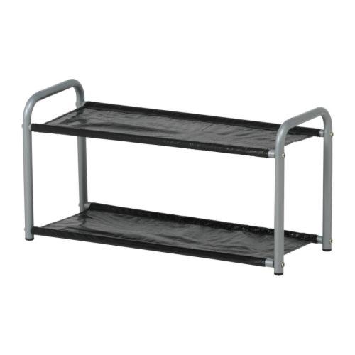 LUSTIFIK Hat/shoe rack, silver color/black