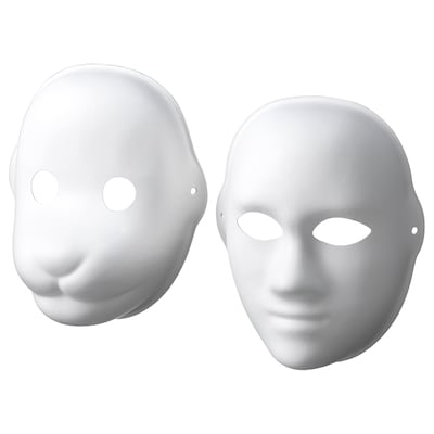 LUSTIGT mask, set of 2 dog/human/white